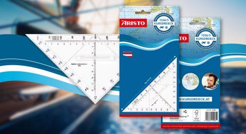 ARISTO Navigationsgeräte Verpackungen im neuen CI