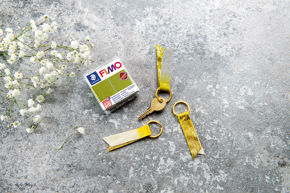 Fimo Lederlook Schlüsselanhänger